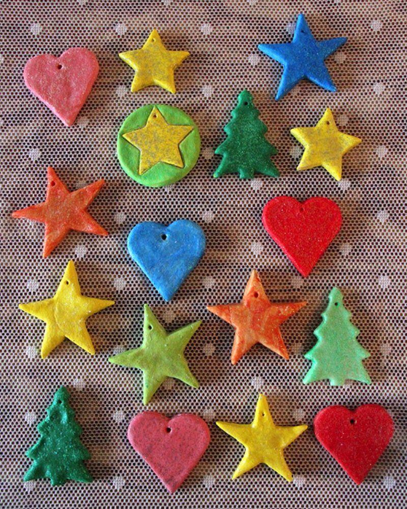 9 déco de Noël en pâte à sel à faire avec les enfants #deconoelmaternelle