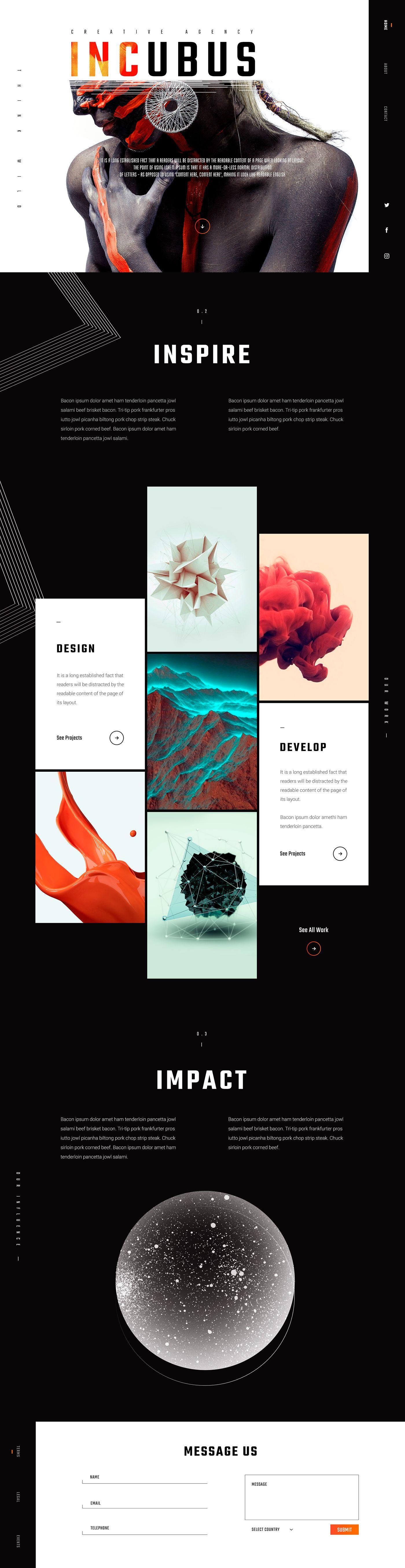 Incubus Creative Agency Portfolio Website On Behance Web Design Webdesign Design