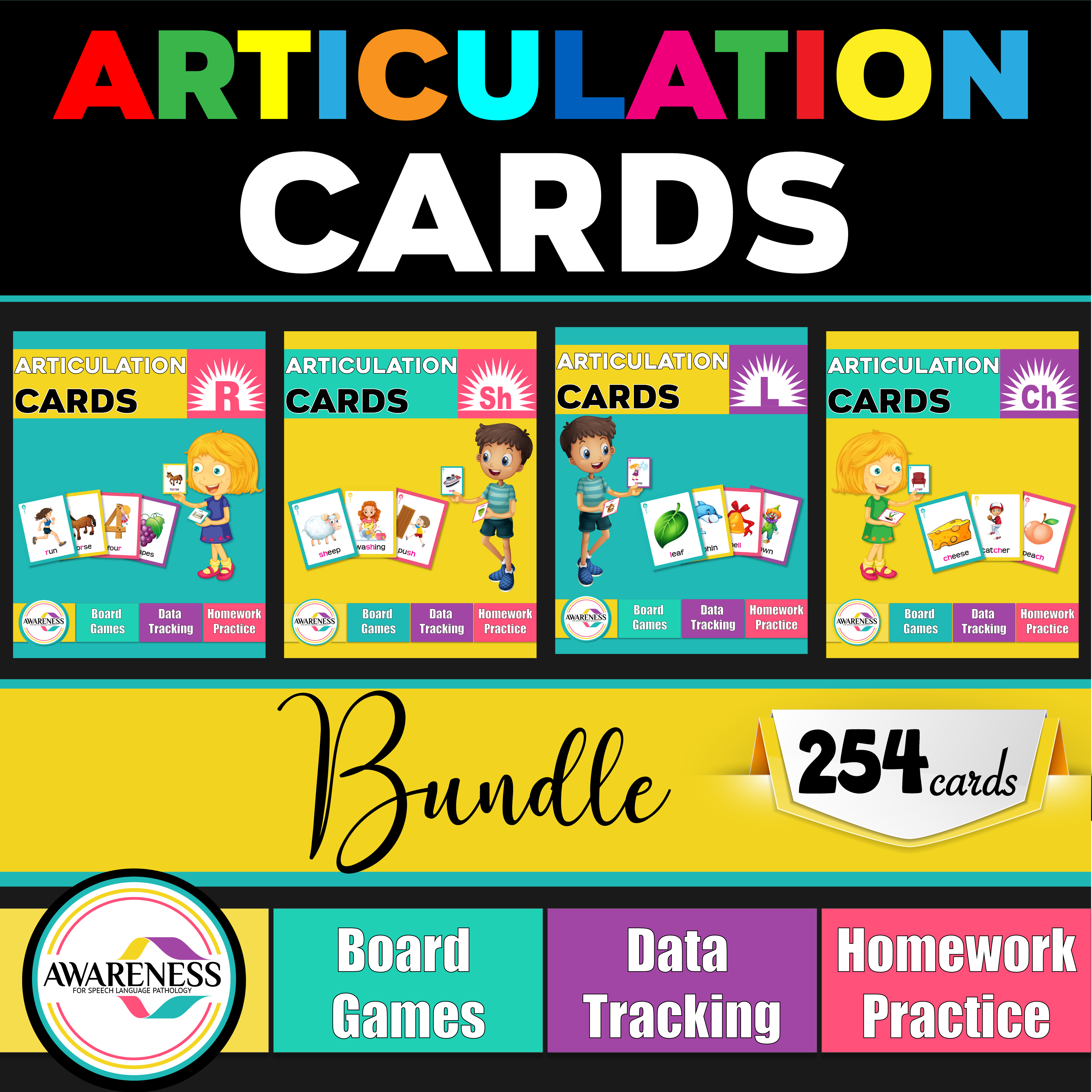Articulation Cards And Worksheets For Speech Therapy