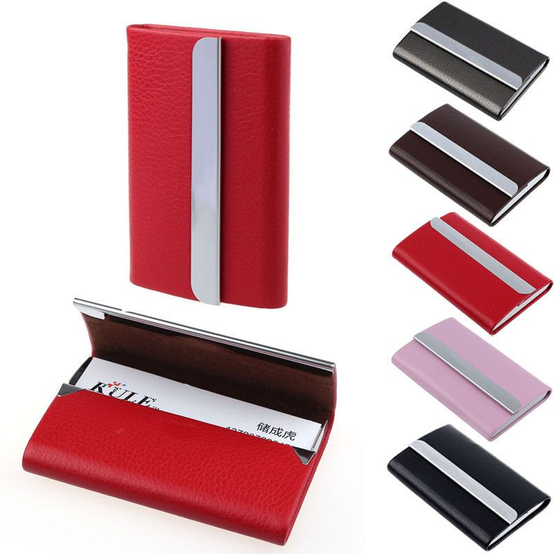 New leather business credit card name id card holder case wallet box new leather business credit card name id card holder case wallet box cheap new reheart Image collections