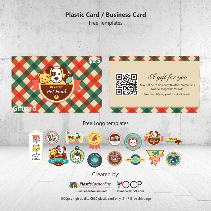 Pet Shop Gift Card Plastic Card Gift Card Template Free Business Card Templates Cards