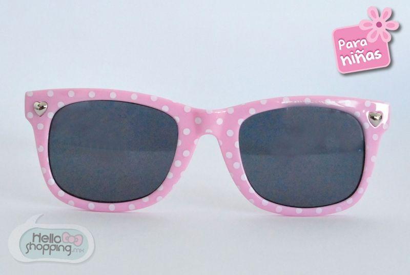 entusiasmo llave inglesa vitalidad  Lentes para Niña Rosa Pastel con Lunares Blancos $129.00 | Rayban wayfarer,  Square sunglass, Sunglasses