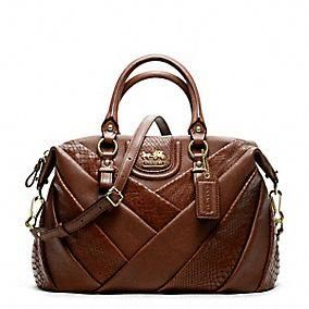 Coach :: Madison Diagonal Pleated Mixed Exotic Juliette