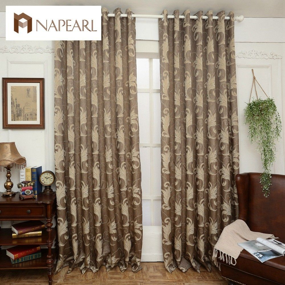 brown blackout curtains. Brown Semi-blackout Curtains Blind Luxury Jacquard Design Fashion Window Treatments Living Room $17.05 Blackout