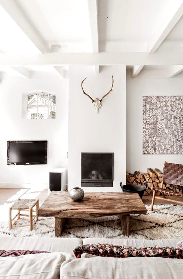 Intérieur Blanc Et Bois 40 Idées Inspirantes à Emprunter For The