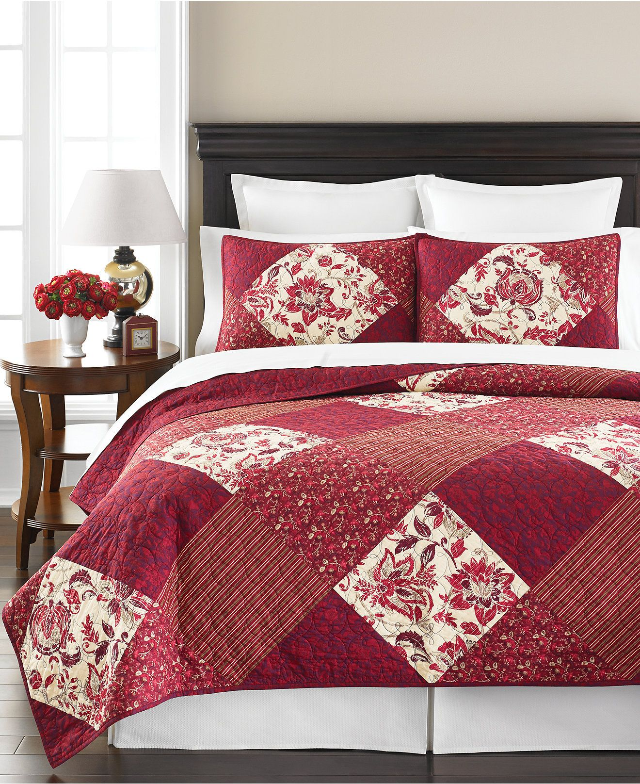 Martha Stewart Collection Somerset Square Quilts, Only at Macy's ... : macys bedding quilts - Adamdwight.com