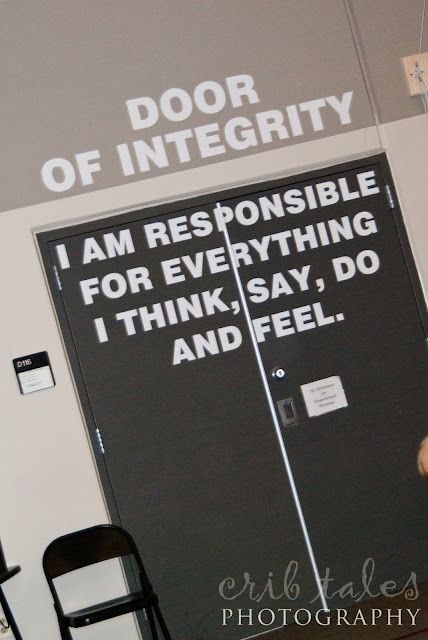Door of Integrity for classroom - I think I'll just make it a poster.