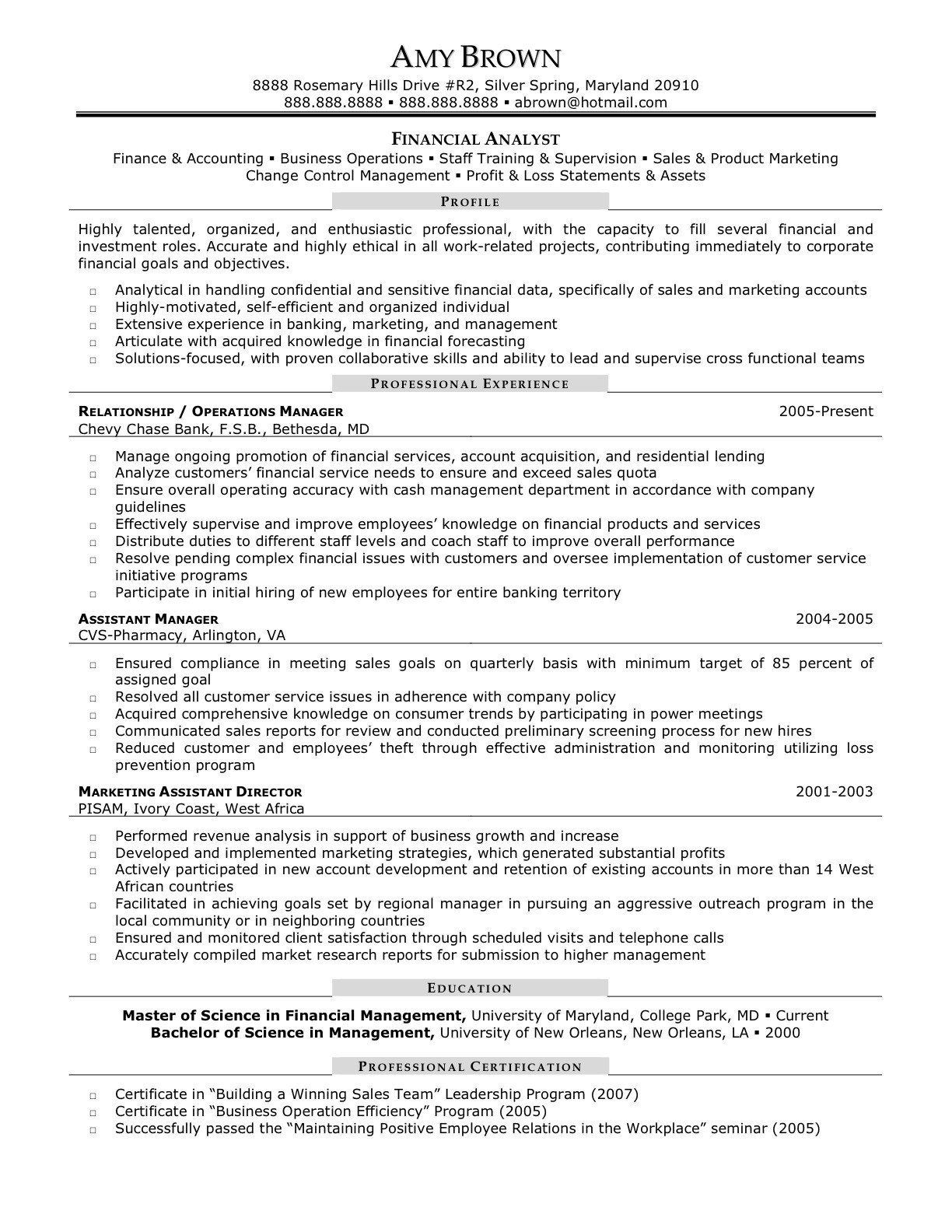 Business Analyst Resume Sample Lovely Credit Analyst Resume