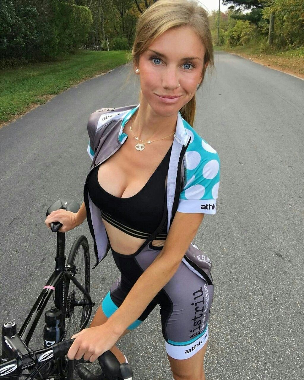 sexy girl on trail