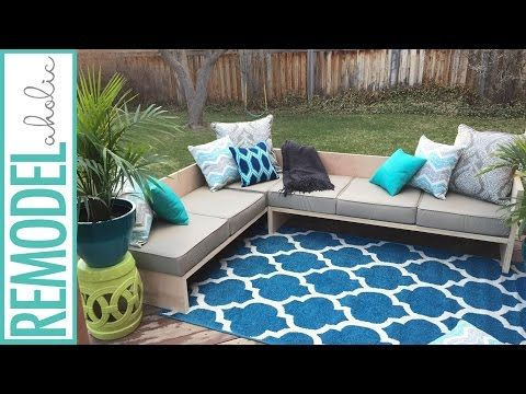 Diy Outdoor Sectional Sofa Tutorial And Building Plan Couch