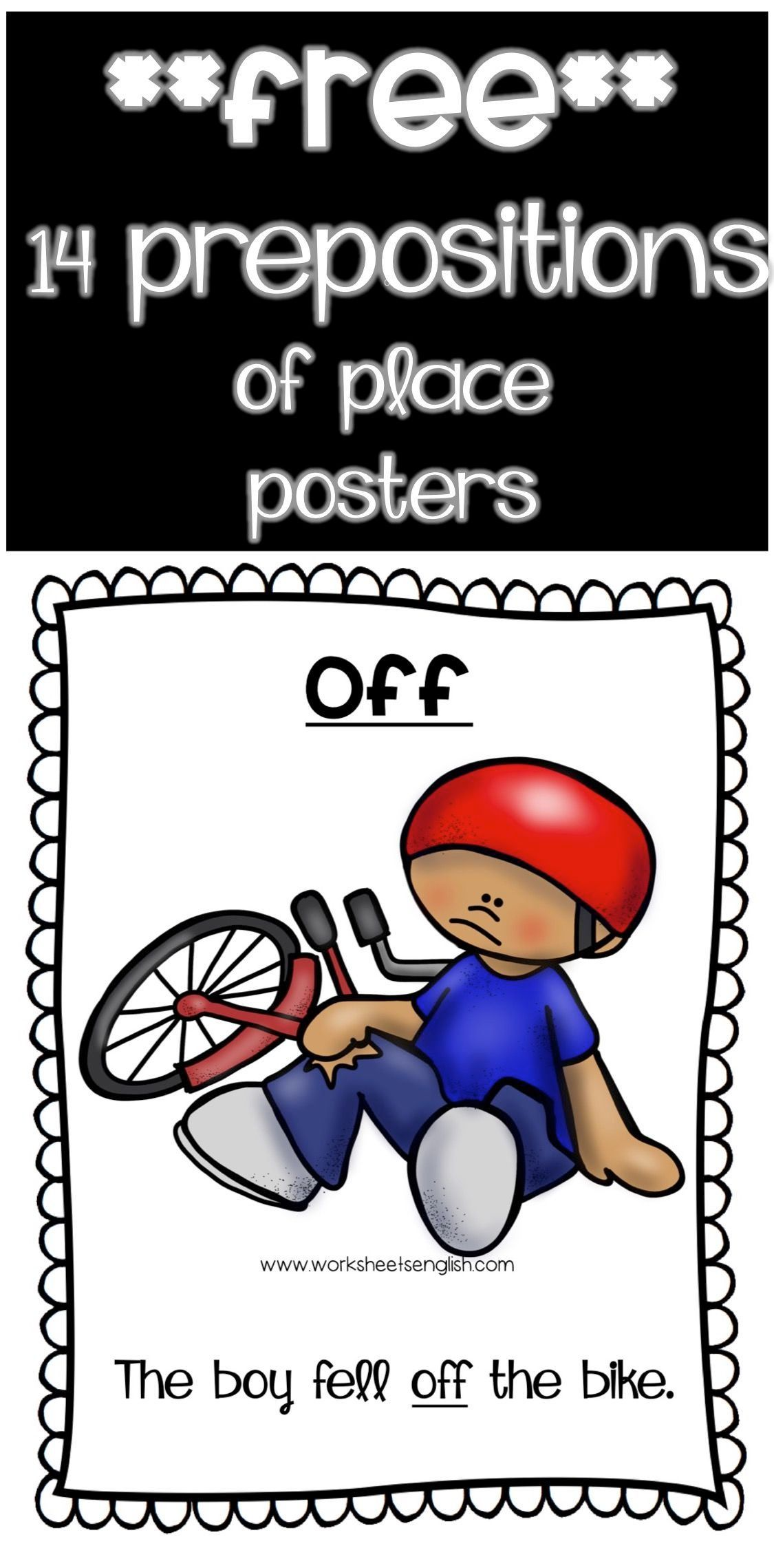 Prepositions Of Place Free Www Worksheetsenglish Com Prepositions Helping Kids Flashcards [ 2249 x 1125 Pixel ]