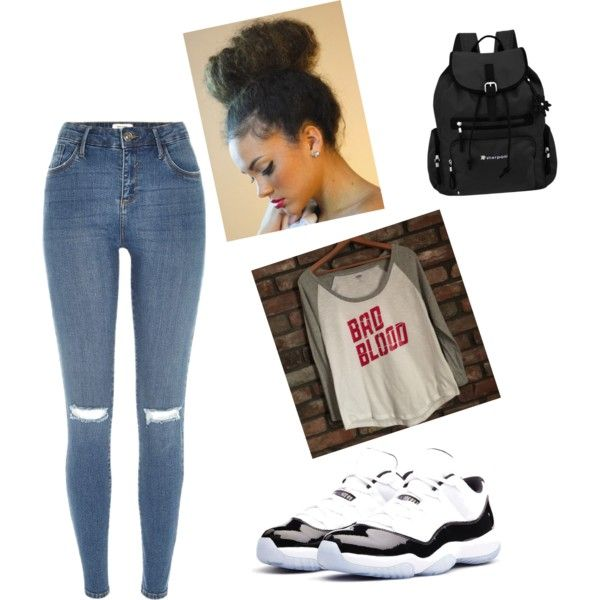 a7bc17cf40c4cc Jordan11 s outfit by safiyanumber on Polyvore featuring polyvore