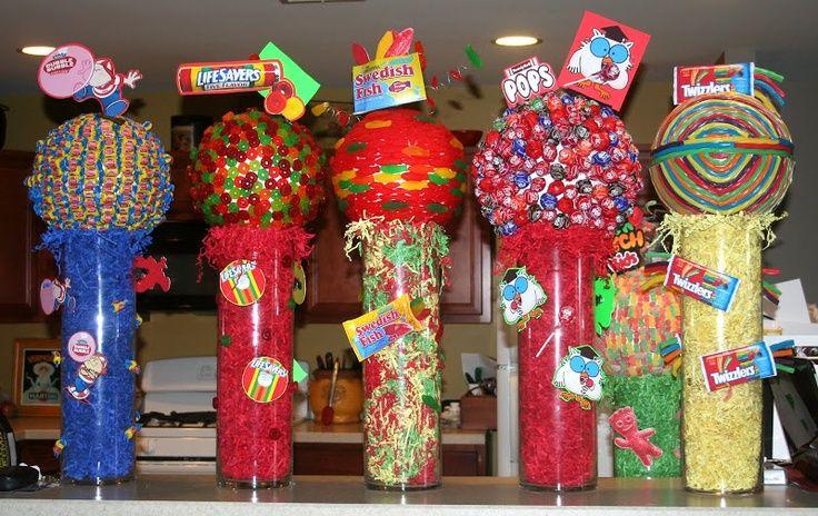 Bar Mitzvah Centerpieces Candy Themed Bar Mitzvah Centerpieces