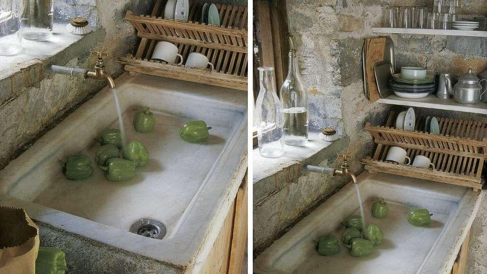 Evier marbre, cuisine provençale | French interiors I love 2 ...