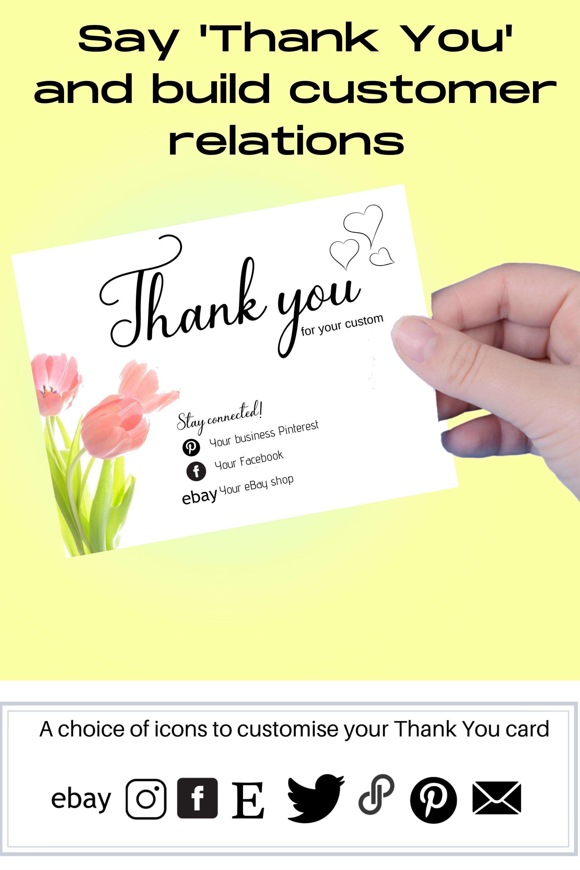 Diy Printable Business Thank You Card Business Thank You Cards Editable Cards Business Thank You