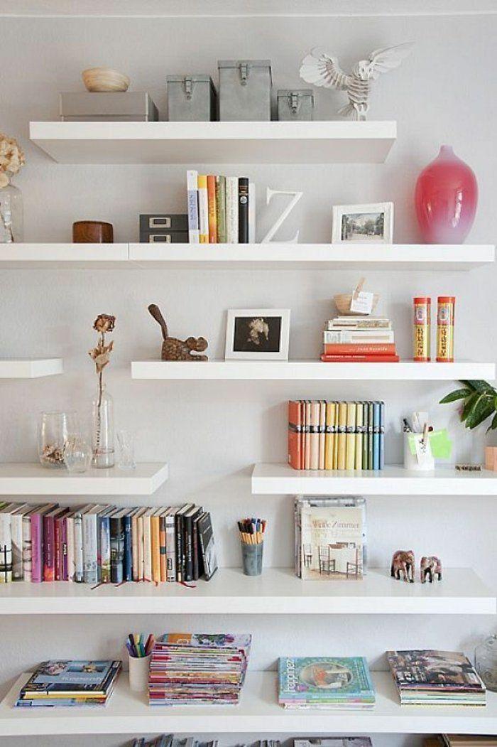 comment d corer le mur avec une belle tag re murale d coration int rieure pinterest. Black Bedroom Furniture Sets. Home Design Ideas