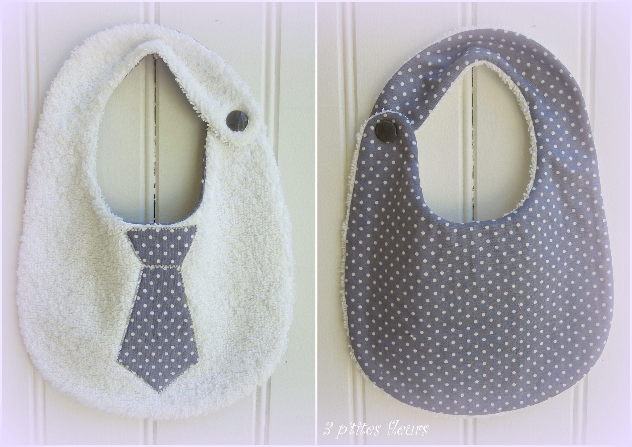 bavoir cravate pour un cadeau de naissance patrons tuto et motifs pinterest cadeaux de. Black Bedroom Furniture Sets. Home Design Ideas