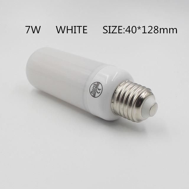 Inspire Uplift 7W White Shell / E14 LED Flame Effect Light Bulb