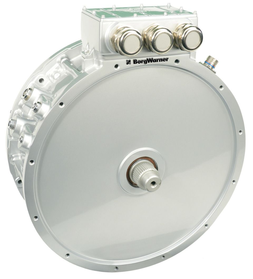 The Borgwarner High Voltage Hairpin 410 Electric Motors Drive The Bus When Enough Energy Is Electric Cars Electric Motor Electric Bike Kits