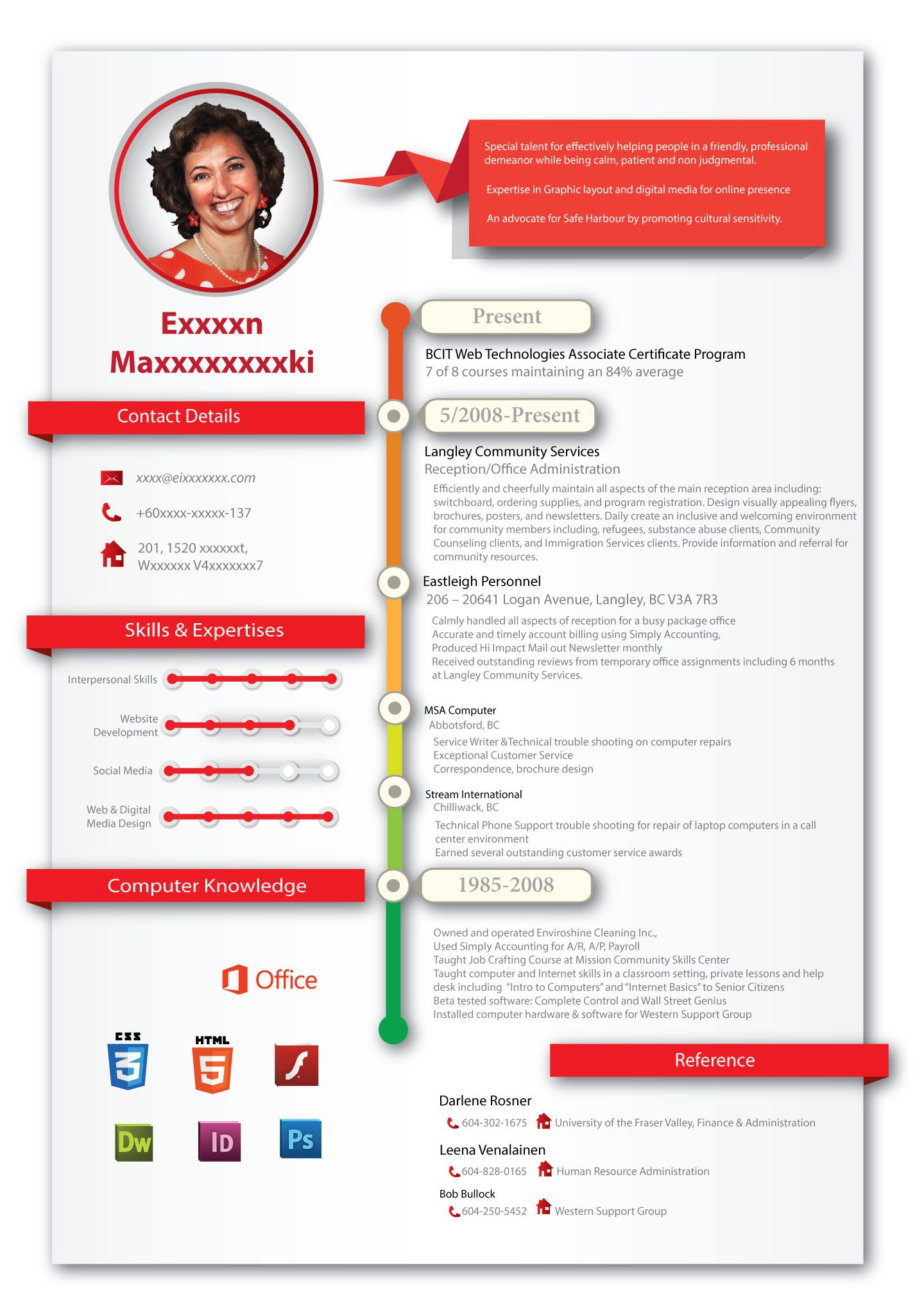 Infographic Resume Creative Professional Resume Design For Creative People