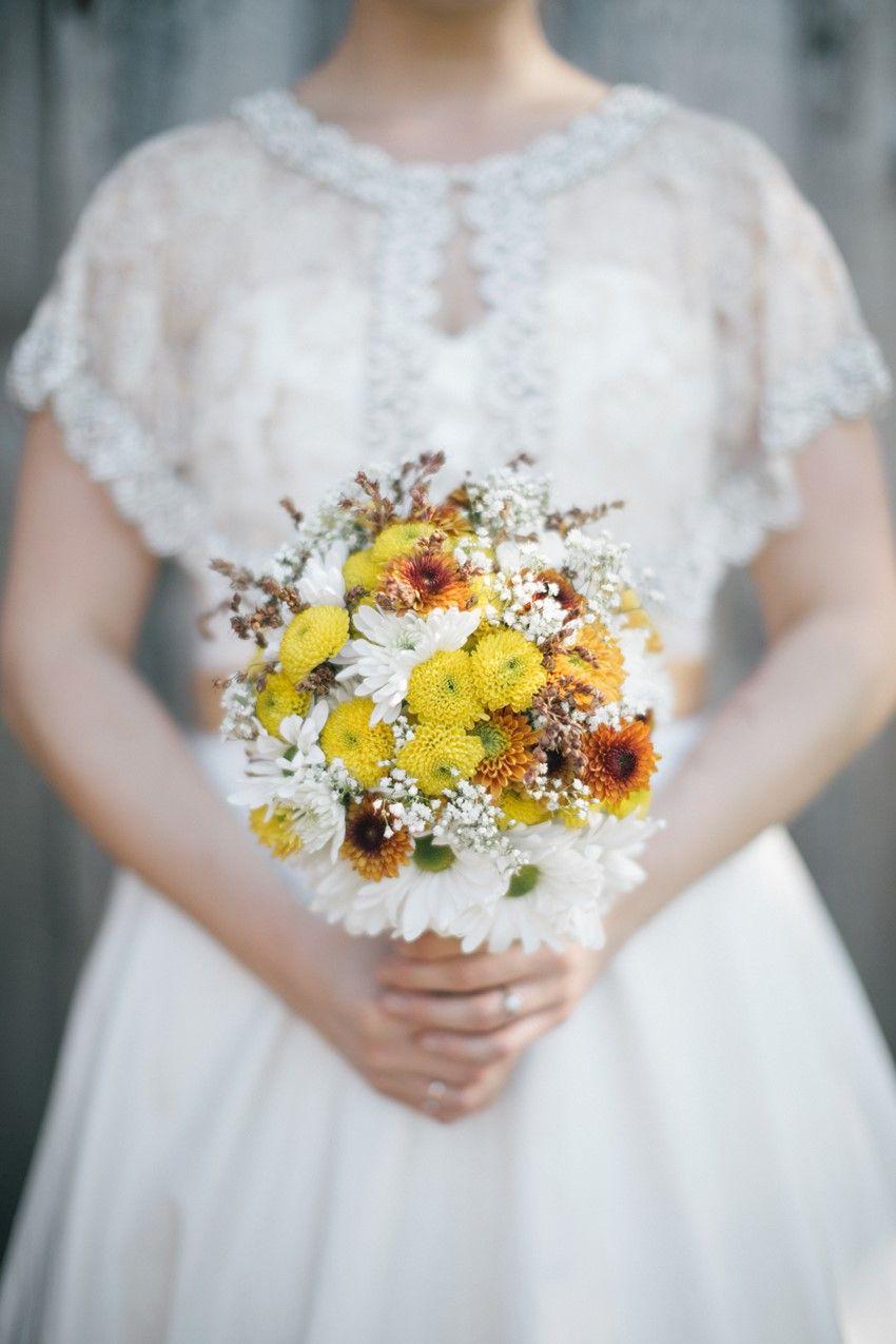 A Vintage Rustic Autumn Wedding with DIY Details   Bouquet ...