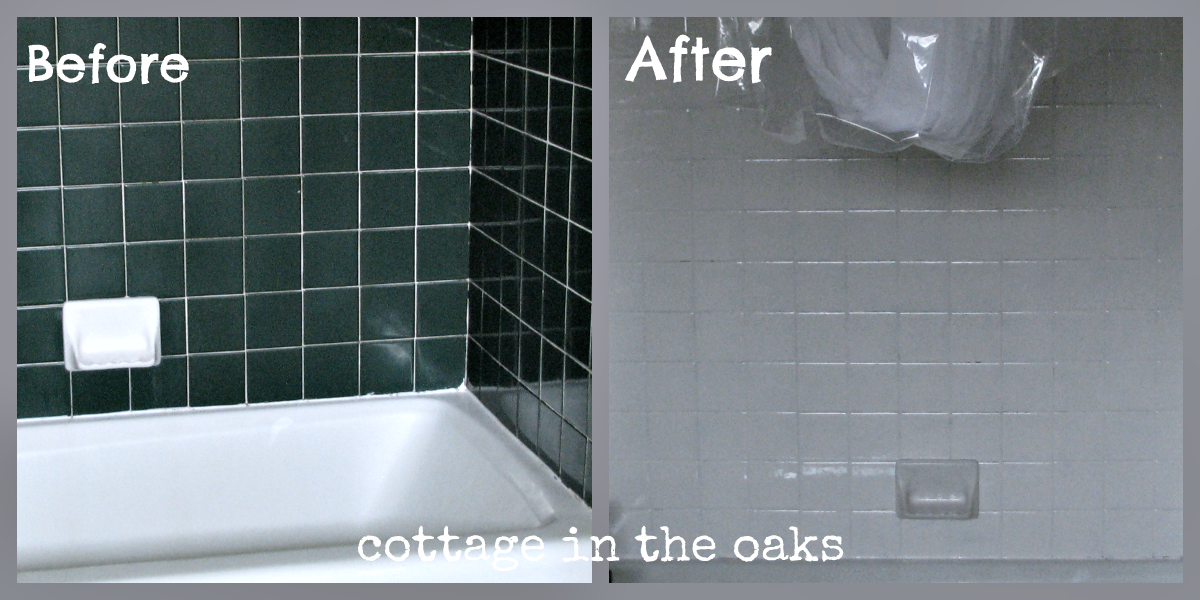 Refinishing Tile: Our Miracle Method {Cottage Bath Makeover | Tile ...