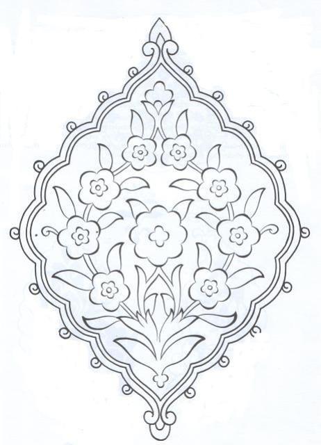 Osmanlı Motifleri Tezhib çizim Embroidery Motifs Tile Art Ve