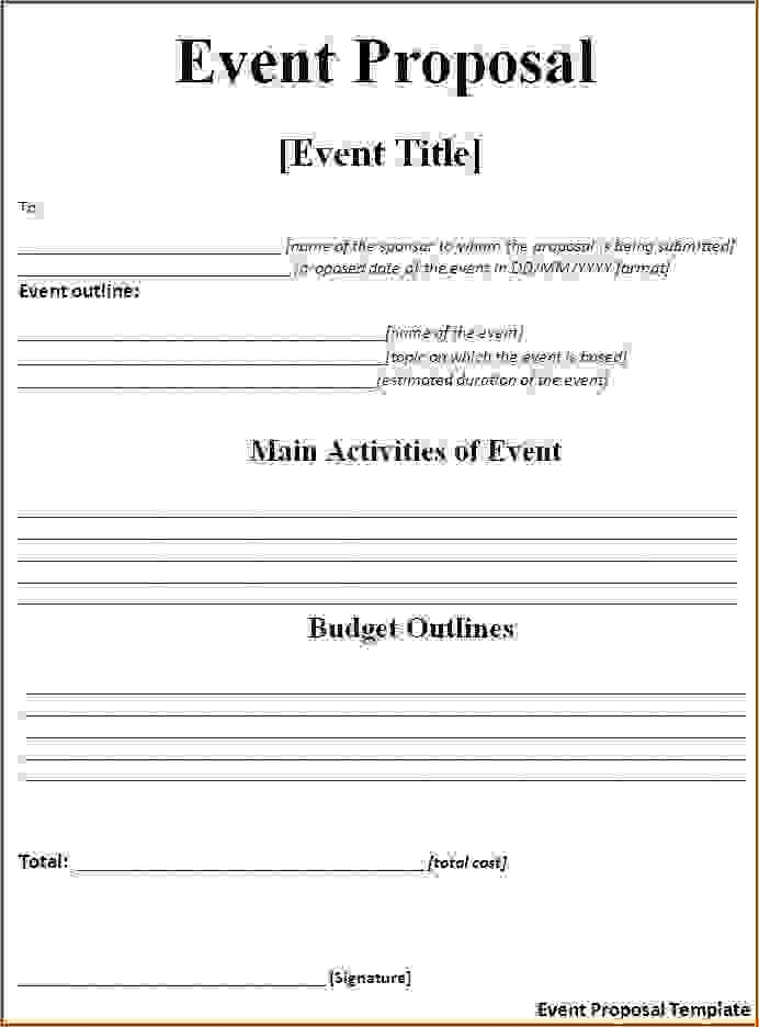 Event Proposal Template | Word Templates | AF Key Spouse info ...