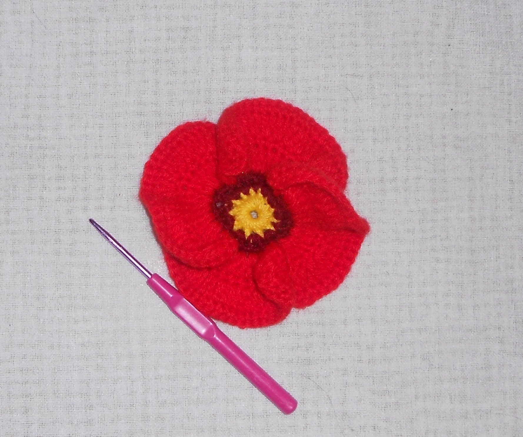 Uncinetto croche fiore papavero crochet pinterest crochet uncinetto crochet fiore papavero crochet poppy flower ganchillo show your crafts and diy projects bankloansurffo Image collections