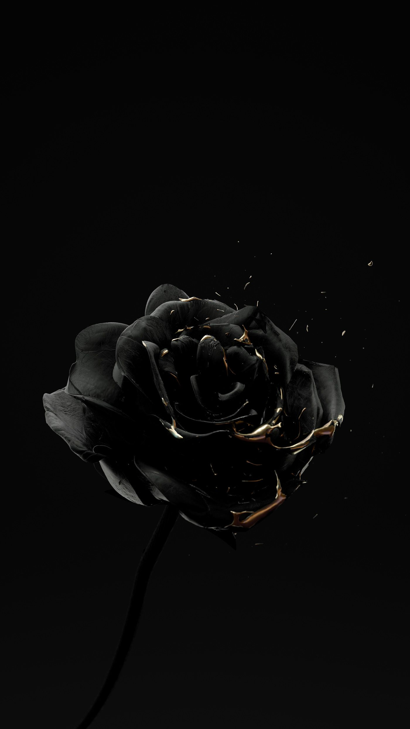 Roses Are Dead Vol 4 Black And Gold On Behance Black Aesthetic Wallpaper Cute Black Wallpaper Black And Gold Aesthetic