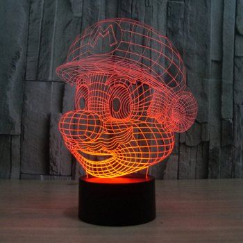 Novelty 3d Colorful Ombre Led Touching Night Light 3d Illusion Lamp 3d Night Light Urban Wear