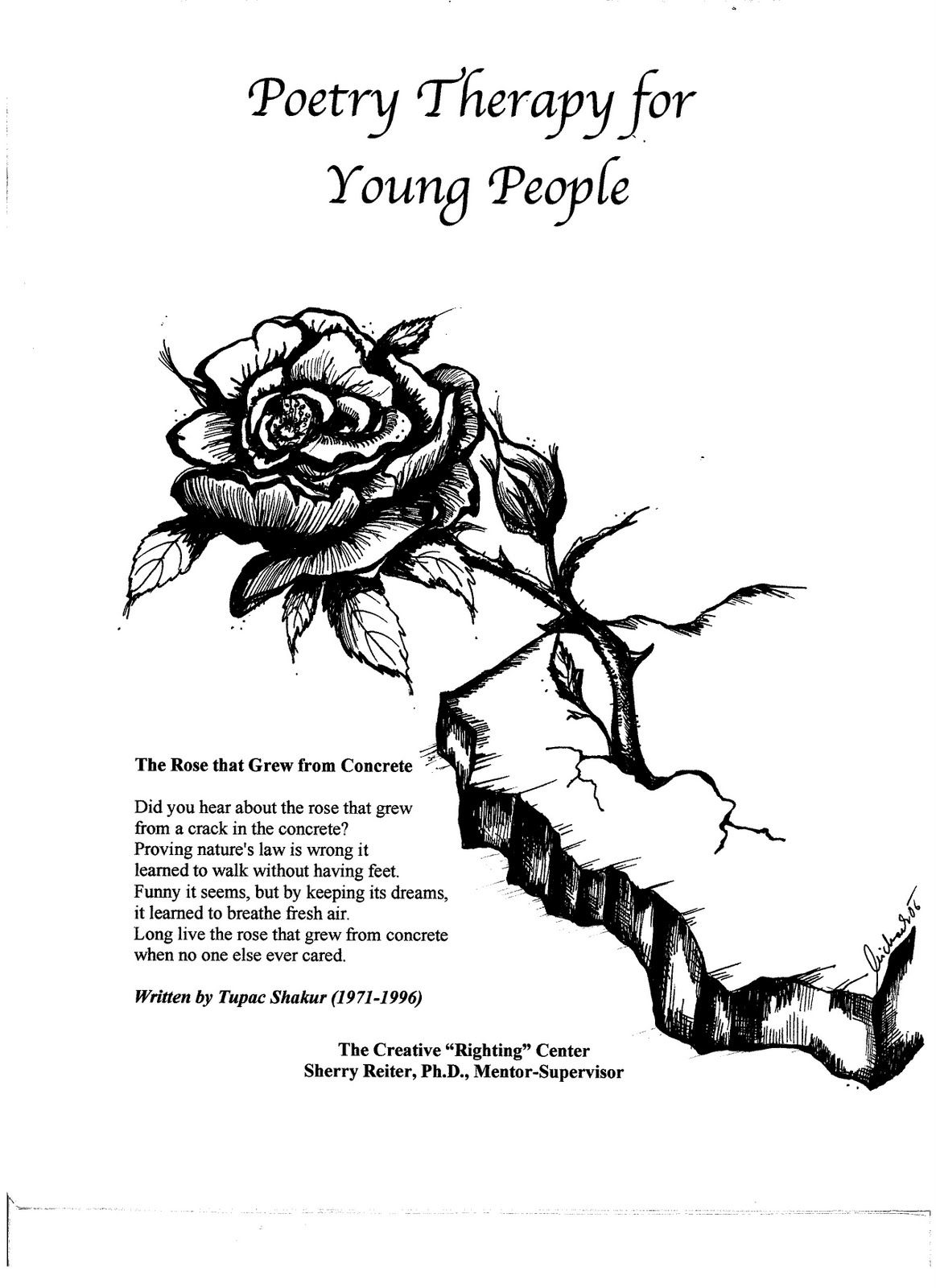 tupac quote rose that grew from concrete Tupac Love Poems