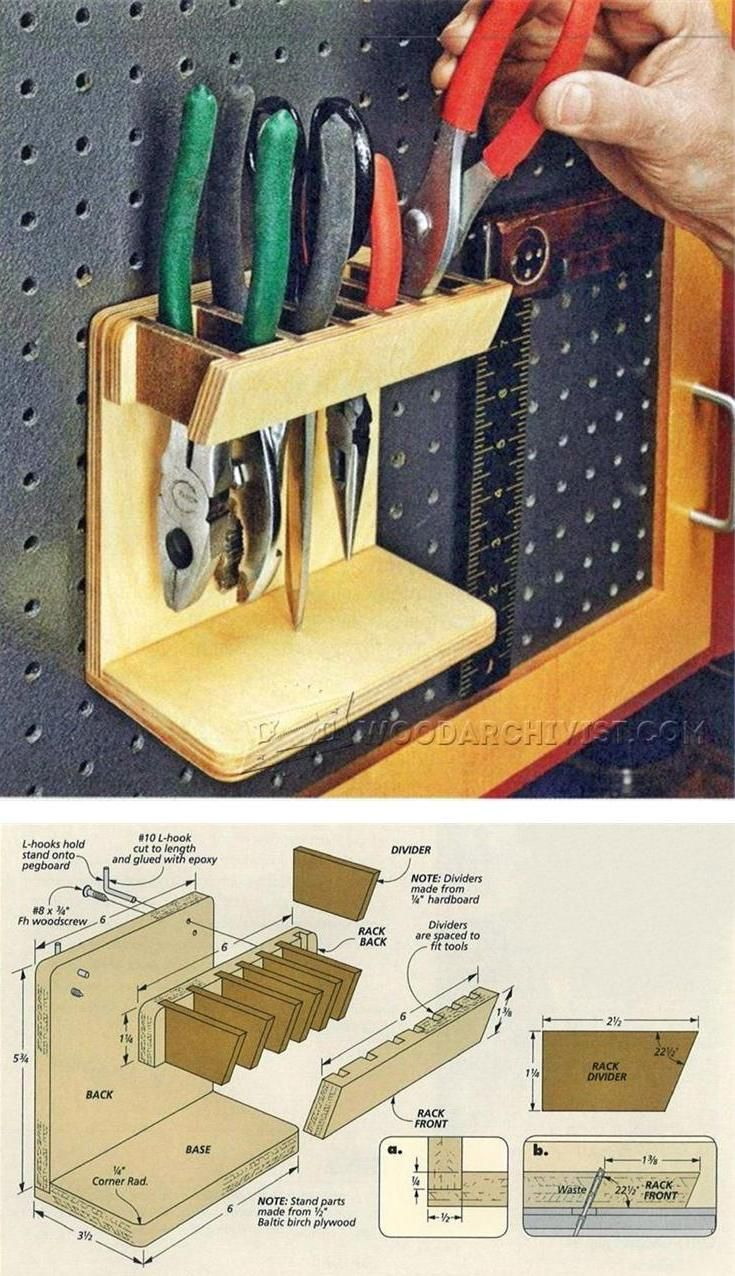diy pegboard tool holder workshop solutions plans tips and tricks ideen. Black Bedroom Furniture Sets. Home Design Ideas
