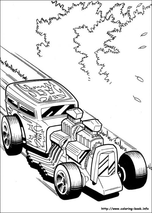 A Fast Classic Hot Rod Roadster Coloring Page Free For ...