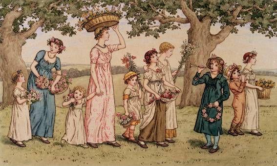 Kate Greenaway - English children's book illustrator and writer