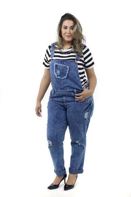 37333e91e Jardineira Jeans - Achados Plus Size | Outfits em 2019 | Plus size ...