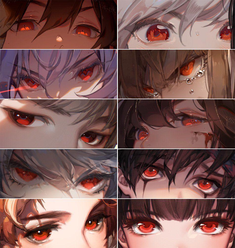 Red Collection Anime Eye Drawing Eyes Artwork Eye Drawing