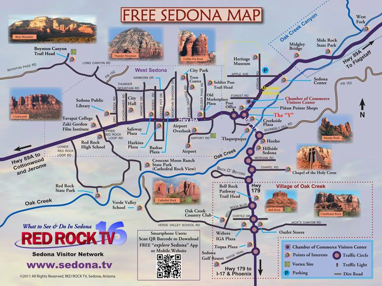 Map Of Arizona Sedona.Map Of Sedona Arizona Area Hiking Map Of Sedona Featured