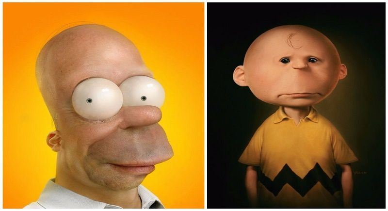 9 Cartoon Characters And Their Real Life : Realistic versions of cartoon characters you wouldn t
