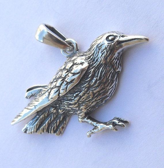 steampunk rabe Cuervos cráneo pendientes pájaro cráneo Antik plata Gothic