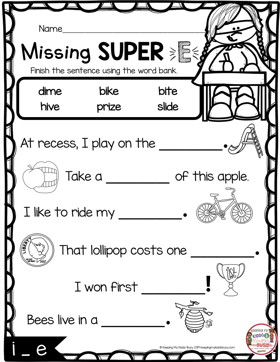 Long Vowels Super E Phonics Unit Freebie Keeping My Kiddo Busy Long Vowel Worksheets Phonics Kindergarten Vowel Worksheets [ 1150 x 892 Pixel ]