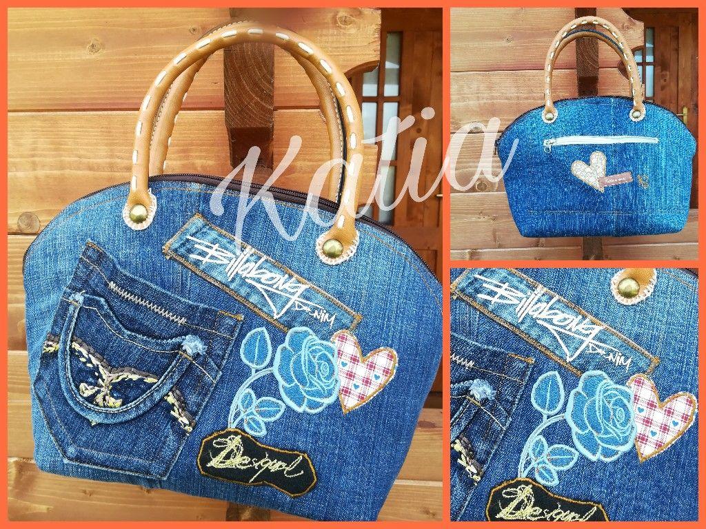 Piccola borsa in jeans (con immagini) | Borse di jeans ...