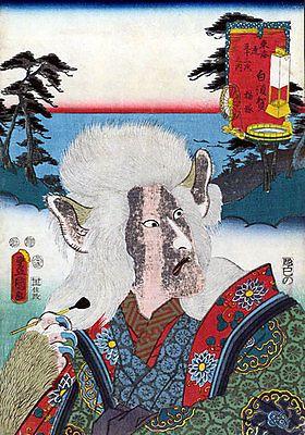 The Cat Lady 22x30 Japanese Print by Kunisada Asian Art Japan Warrior