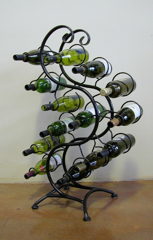 Iron Design Tauranga Wine Rack Decoracion En Hierro Hierro