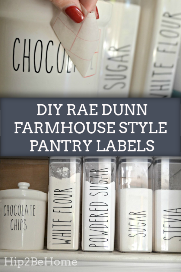 Make Your Own Farmhouse Style Rae Dunn Kitchen Labels
