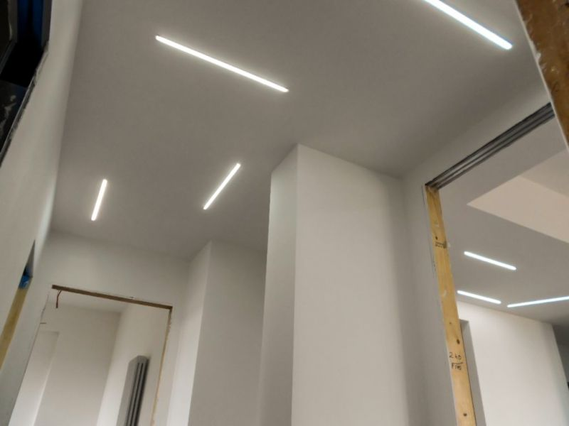 Illuminazione controsoffitto corridoio faretti per soffitto in