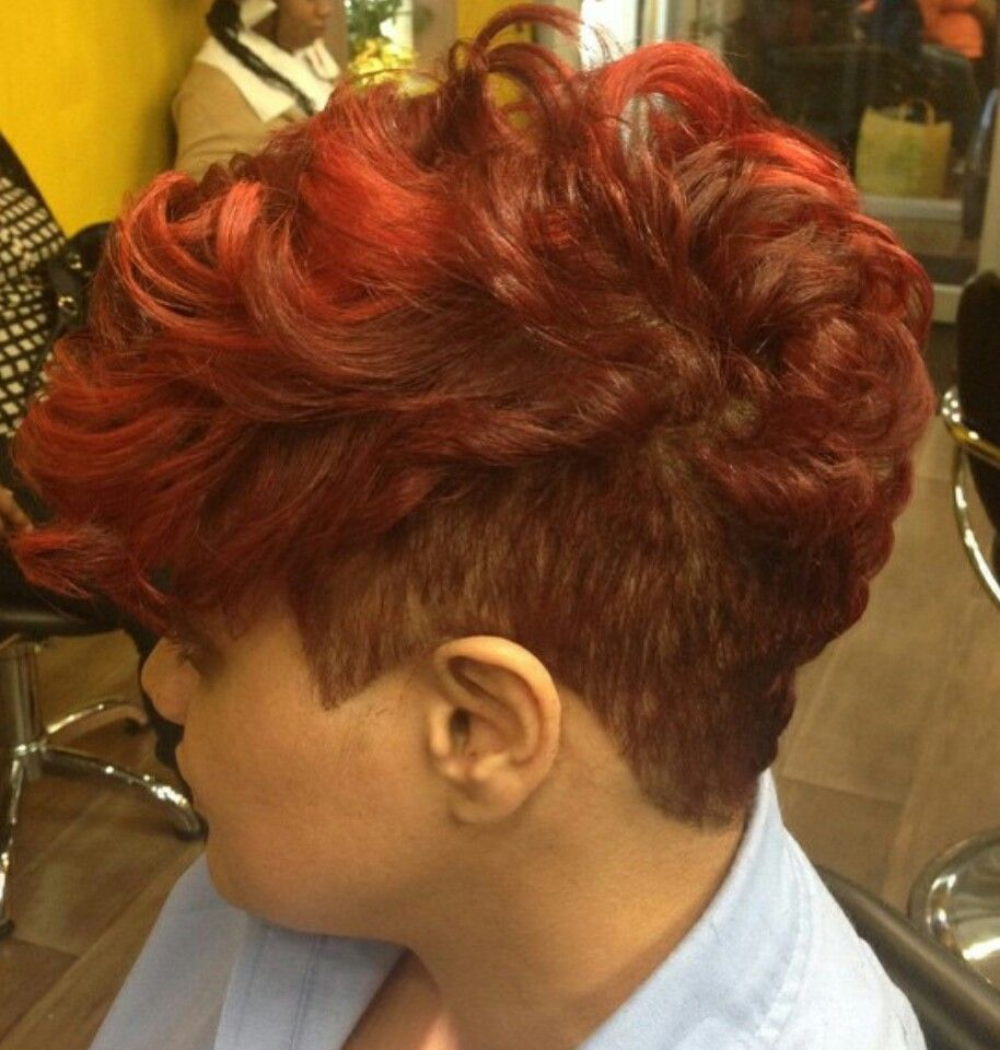 Red mohawk hair pinterest mohawks hair style and shorts