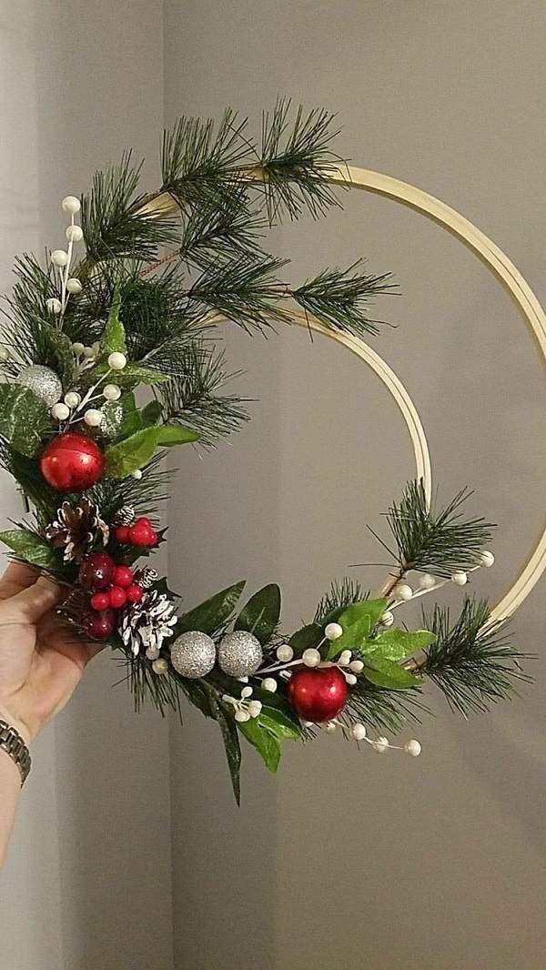 Weihnachtskranz vor der Haustür – festliche Ideen für Ihre gute Laune! #bastelideenweihnachten