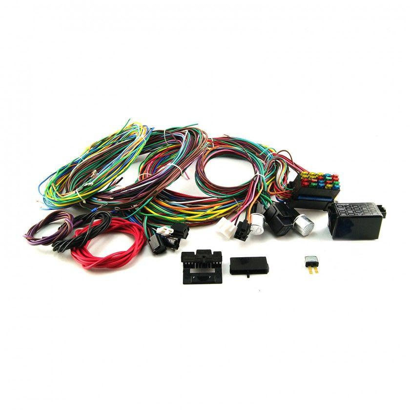 Universal 20 Circuit Wiring Harness Kit Street Rod Hot Rod Race