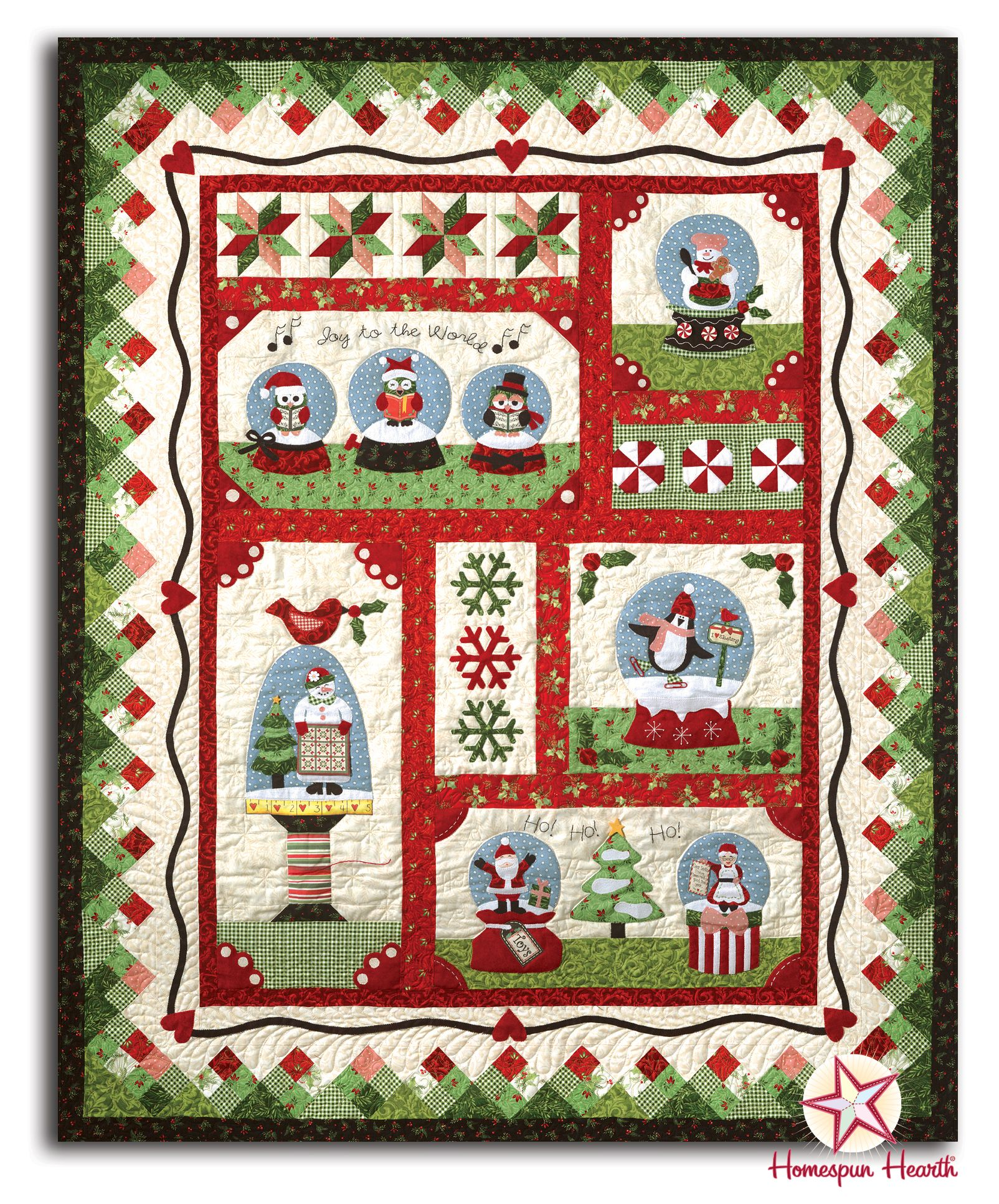 Snow Globe Village Block of the Month or All at ce by The